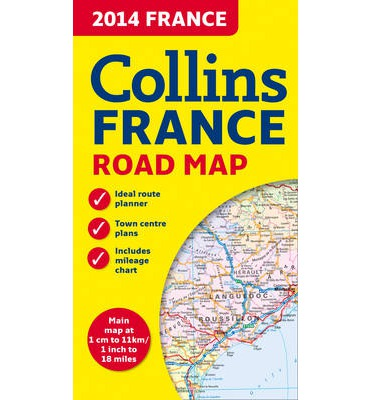 2014 Collins Map of France