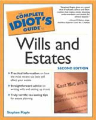 Descargas de libros gratis para Blackberry Complete Idiots Guide to Wills and Estates (Spanish Edition) PDF FB2 iBook by Stephen M Maple, Chris Eliopoulos