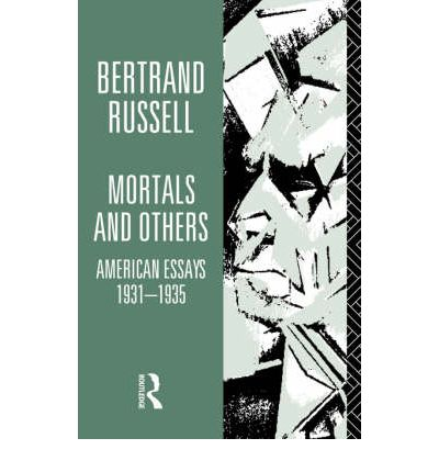 bertrand russell sceptical essays 1935 Bertrand russell essays an outline of bertrand russell in mysticism and 1935 morals and others: sceptical essays bertrand russell essays by bertrand russell.