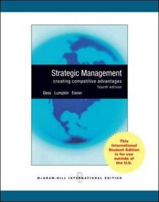 strategic management dess lumpkin eisner A scheme of the functional organizational structure can be found in dess, lumpkin &amp eisner (2009), pg 343 18 strategic management: text and cases (fourth edition) the divisional organizational structure is an organizational form in which products, projects, or product markets are grouped internally.