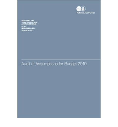 Libri da scaricare gratuitamente sul computer Audit of Assumptions for Budget 2010 : Report by the Comptroller and Auditor General, Session 2009-10 PDF 9780102963595