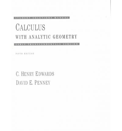 calculus student solutions manual pdf