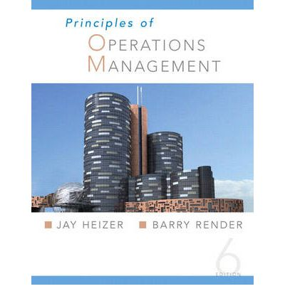 solution of chapter capacity planning of operation managment by jay heizer and barry render Jay heizer, barry render sorry have not added any pdf format description on operations management an outline history of the special operations.