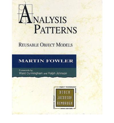 Analysis Patterns Reusable Object Models