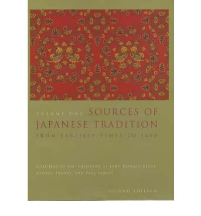 Sources of Japanese Tradition: v. 1