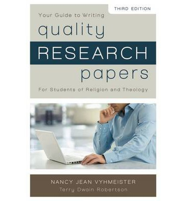 quality research papers for students of religion and theology by nancy jean vyhmeister