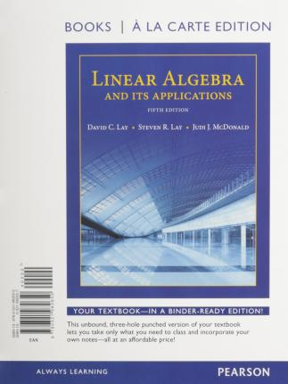 linear algebra and its application david c lay pdf