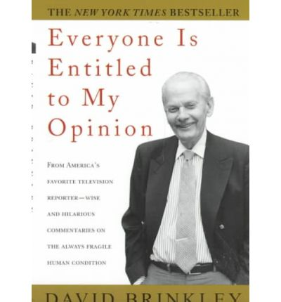 Textbook electronic download Everyone is Entitled to My Opinion by David Brinkley in Finnish PDF RTF