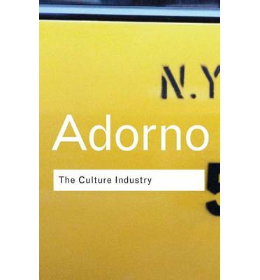 adorno culture industry essay Analysis- adorno & horkheimer and vogue an essay on the culture industry and mass culture industry, adorno and horkheimer's theories can be significantly.