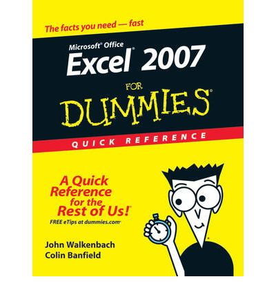Excel 2007 For Dummies Quick Reference