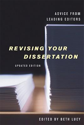 revising your dissertation edited by beth luey