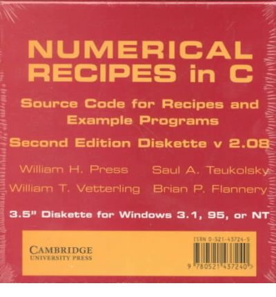 Numerical Recipes in C 3.5 Inch Diskette for Windows : The Art of ...