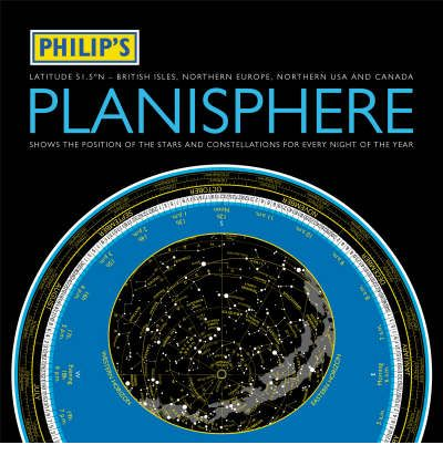 Philip\'s Planisphere: Northern 51.5 Degrees - British Isles, Northern Europe Northern USA and Canada