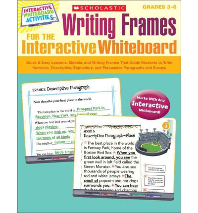 Interactive whiteboard writing a report