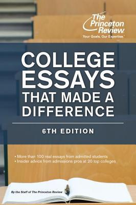 college essays that made a difference review Iup's cook honors college recently announced the winners of the making a difference essay contest this annual national high school writing competition asks readers to reflect on how community service has been transformative in their lives.