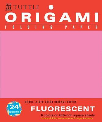 """Origami Hanging Paper - Fluorescent 6"""" - 24 Sheets"""