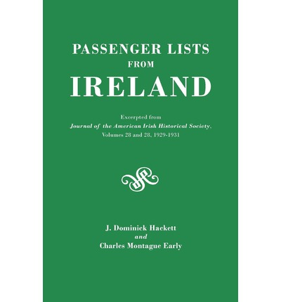 Download di libri elettronici gratuiti pdf Passenger Lists from Ireland. Excerpted from the Journal of the American Irish Historical Society, Volumes 28 and 29, 1929-1931 in Italian PDF ePub