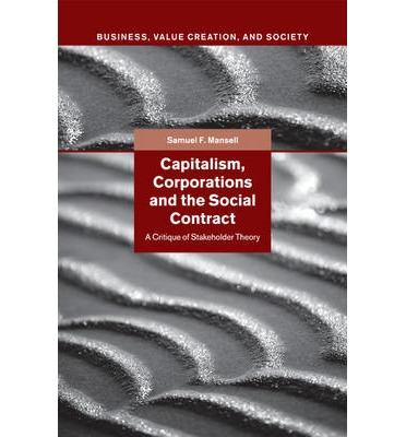 Capitalism corporations and the social contract samuel f mansell