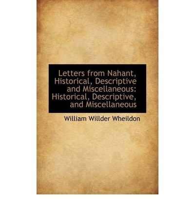 Letters From Nahant Historical Descriptive And