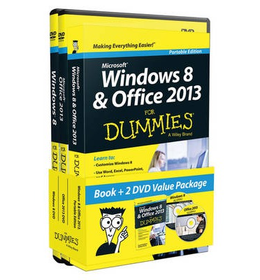 Windows 8 and Office 2013 for Dummies, Book + 2 DVD Bundle