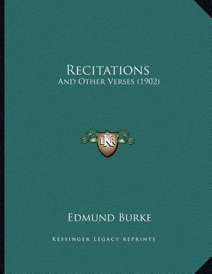 Recitations : And Other Verses (1902)