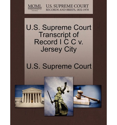 U.S. Supreme Court Transcript of Record I C C V. Jersey City