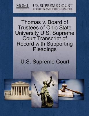 Thomas V. Board of Trustees of Ohio State University U.S. Supreme Court Transcript of Record with Supporting Pleadings