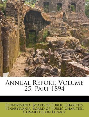 Annual Report, Volume 25, Part 1894