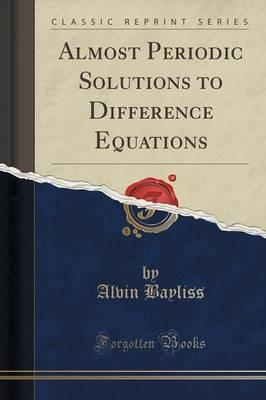 Calculus free books download ebooks online textbooks calculus ebooks for ipad almost periodic solutions to difference equations classic reprint by alvin bayliss pdf fandeluxe Gallery