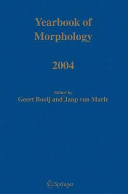 Yearbook of Morphology 2004 2004