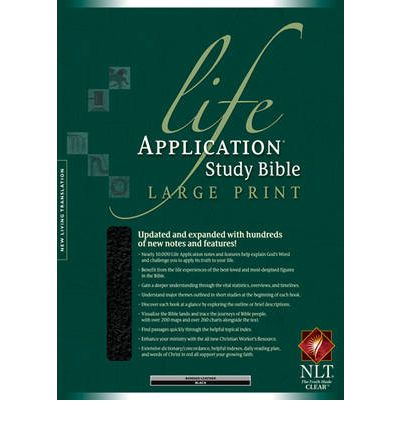 Life application study bible nlt large print