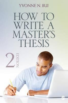 how to write a masters thesis in education