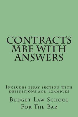 Contracts exam essay answers