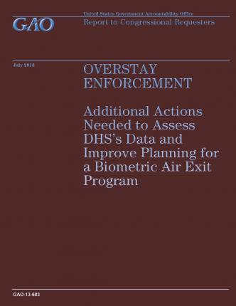 Overstay Enforcement : Additional Actions Needed to Assess Dhs's Data and Improve Planning for a Biometric Air Exit Program