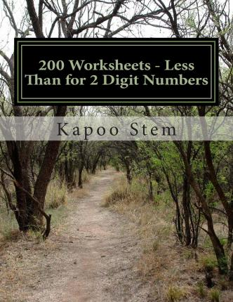 200 Worksheets - Less Than for 2 Digit Numbers : Math Practice Workbook