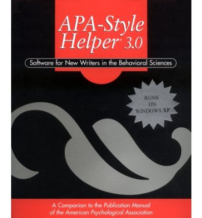 apa style helper Find great deals on ebay for apa helper shop with confidence.