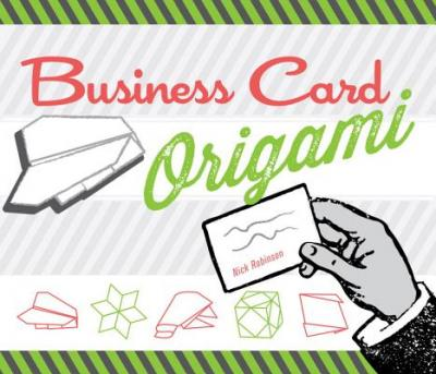 business card origami nick robinson 9781623540197