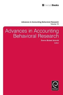 Download PDF by Donna Bobek Schmitt: Advances in Accounting Behavioral Research,: 16