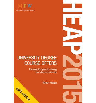 HEAP: University Degree Course Offers 2015