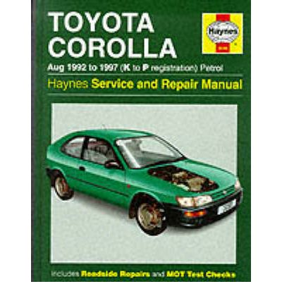 1991 toyota corolla owners manual
