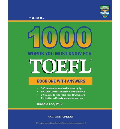 must have words for toefl Published by ets, the creators of the toefl test 400 must- have words for the  toefl is the best book on the marketto improve your vocabulary for the toefl.