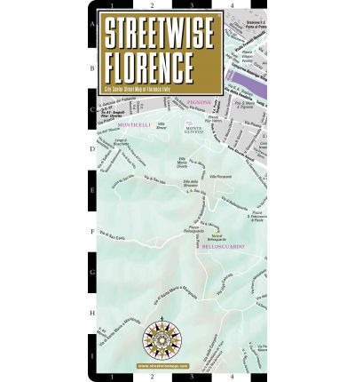 Streetwise Florence Map - Laminated City Center Street Map of Florence, Italy