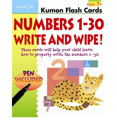 Numbers 1-30 Write and Wipe Flash Cards