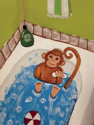 There's a Monkey in Our Bathtub