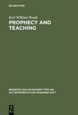Ipod download audiobooks Prophecy and Teaching : Prophetic Authority, Form Problems, and the Use of Traditions in the Book of Malachi 3110166925 PDF by Karl William Weyde