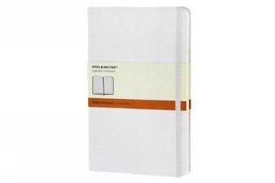 Moleskine White Large Ruled Notebook Hard