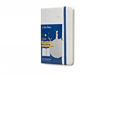 2014 Moleskine Petit Prince White Hard Large Weekly Notebook