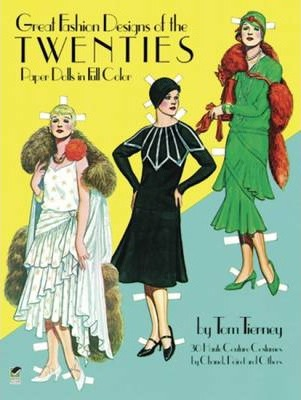 Great Fashion Designs of the Twenties Paper Dolls in Full Colour (Paperback)