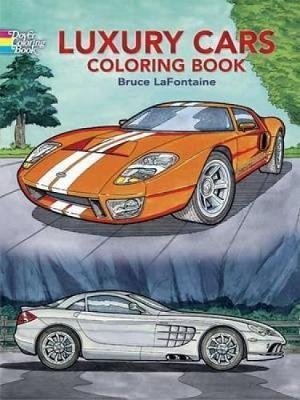 Luxury Cars Coloring Book (Mīkstie vāki)