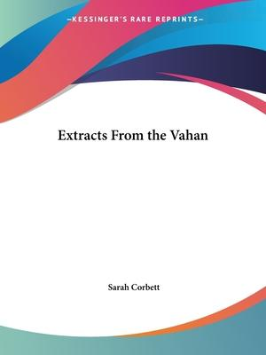 Extracts from the Vahan (1904)